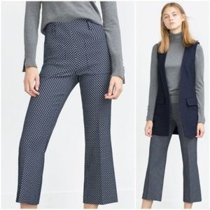 Zara Polka Dot Set High Rise Pants & Crop Top